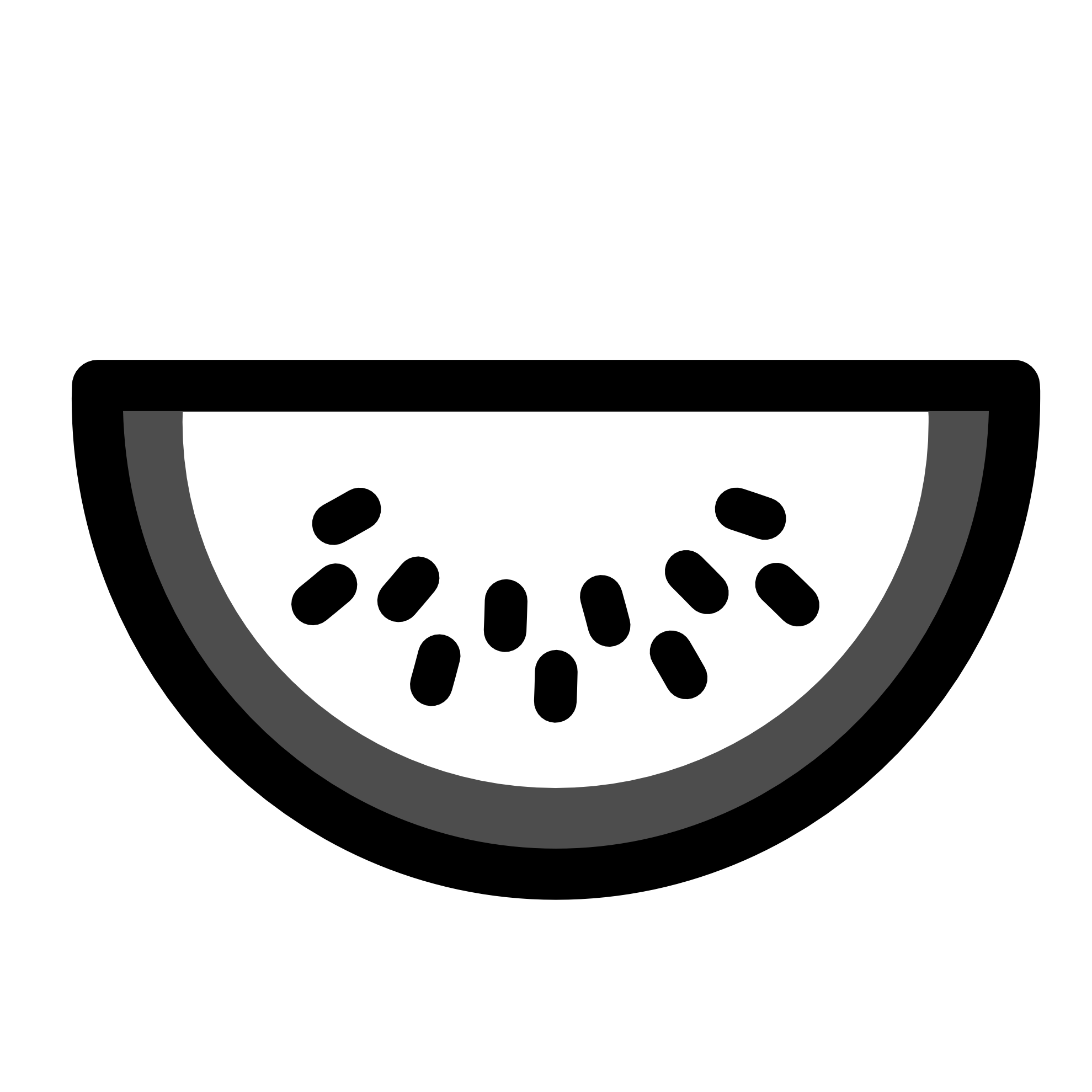 Black And White Watermelon Clipart.