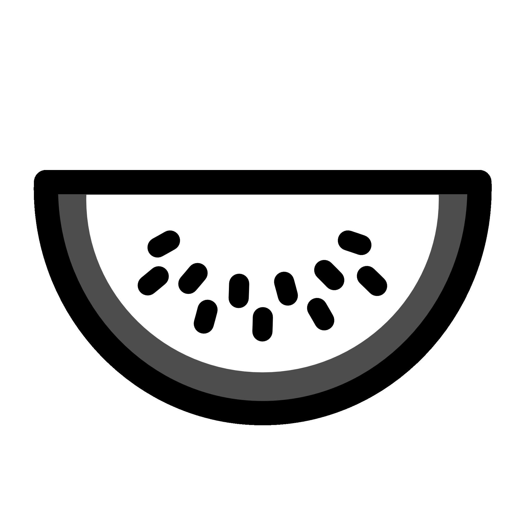 Black And White Watermelon Clipart.