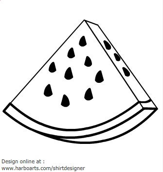 Gallery For > Watermelon Slice Clipart Black And White.