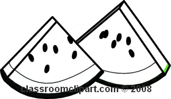 Watermelon Black And White Clipart#2021001.