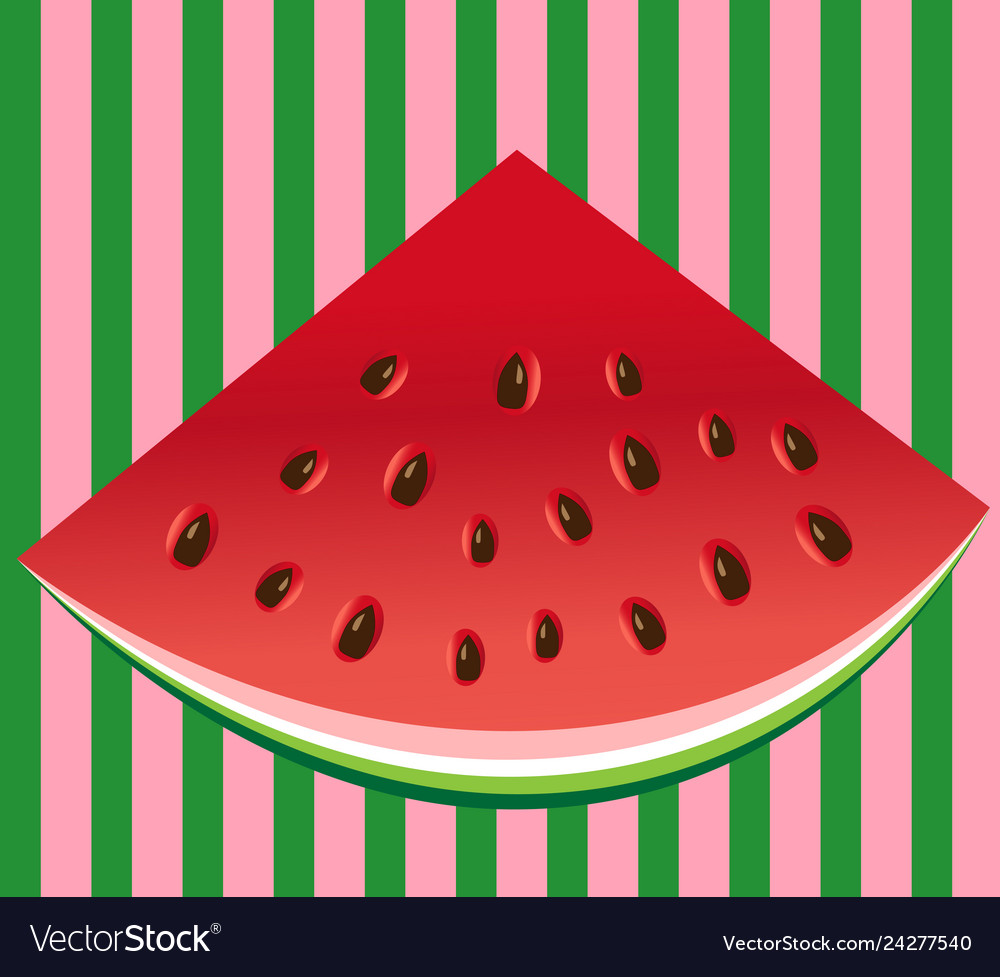 Watermelon slice background with seed and skin.