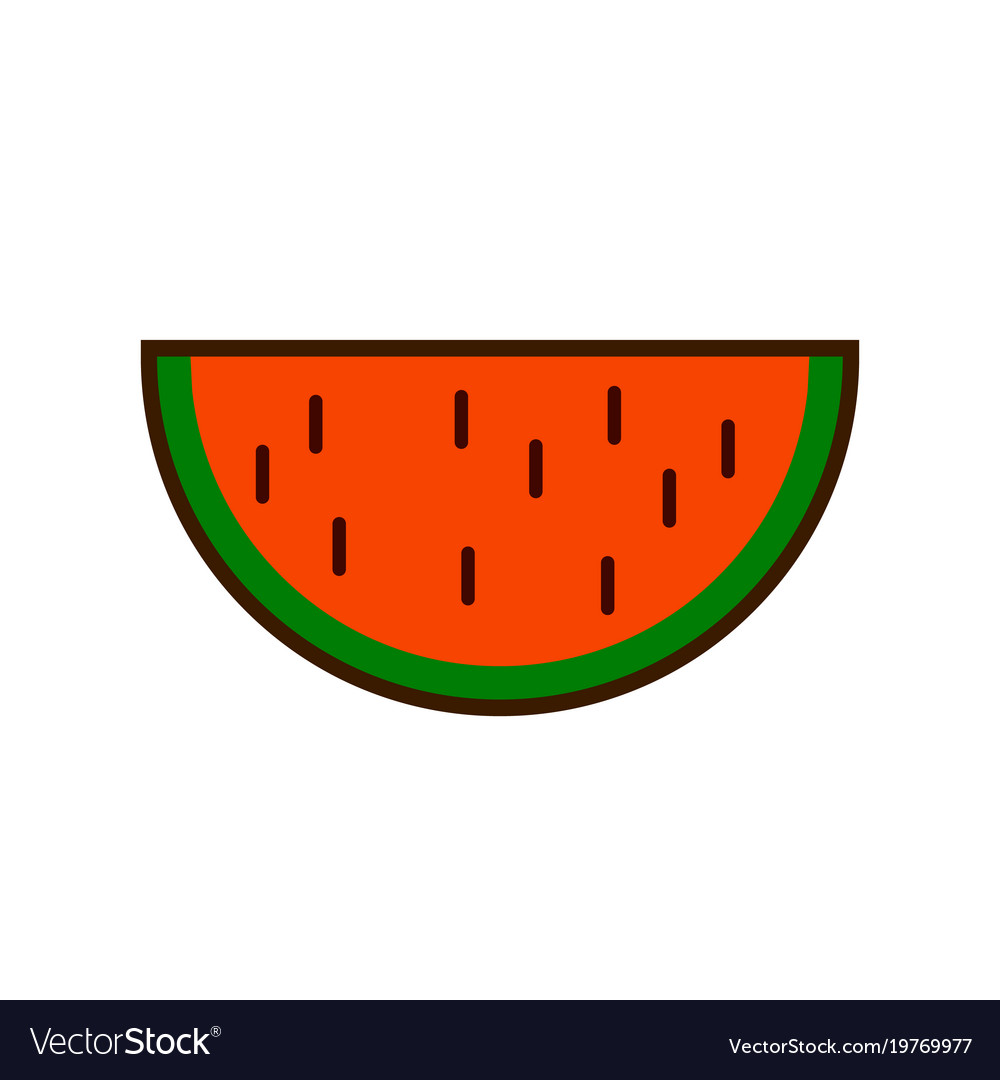 Watermelon fruit slice or cross section with seeds.