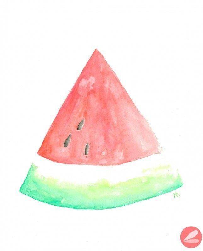 Watercolor Watermelon Printable.
