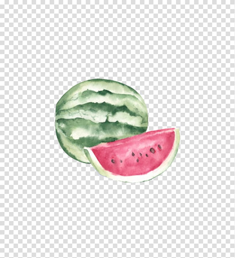 Watercolor painting Canvas Watermelon, Watermelon painting.
