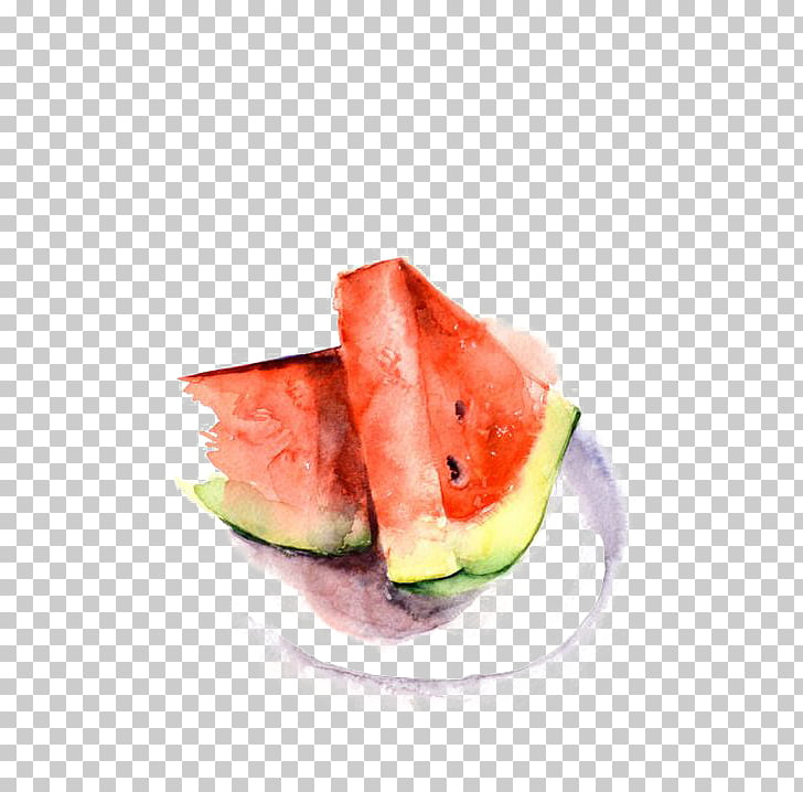 Watermelon Watercolor painting Art Printmaking, watermelon.