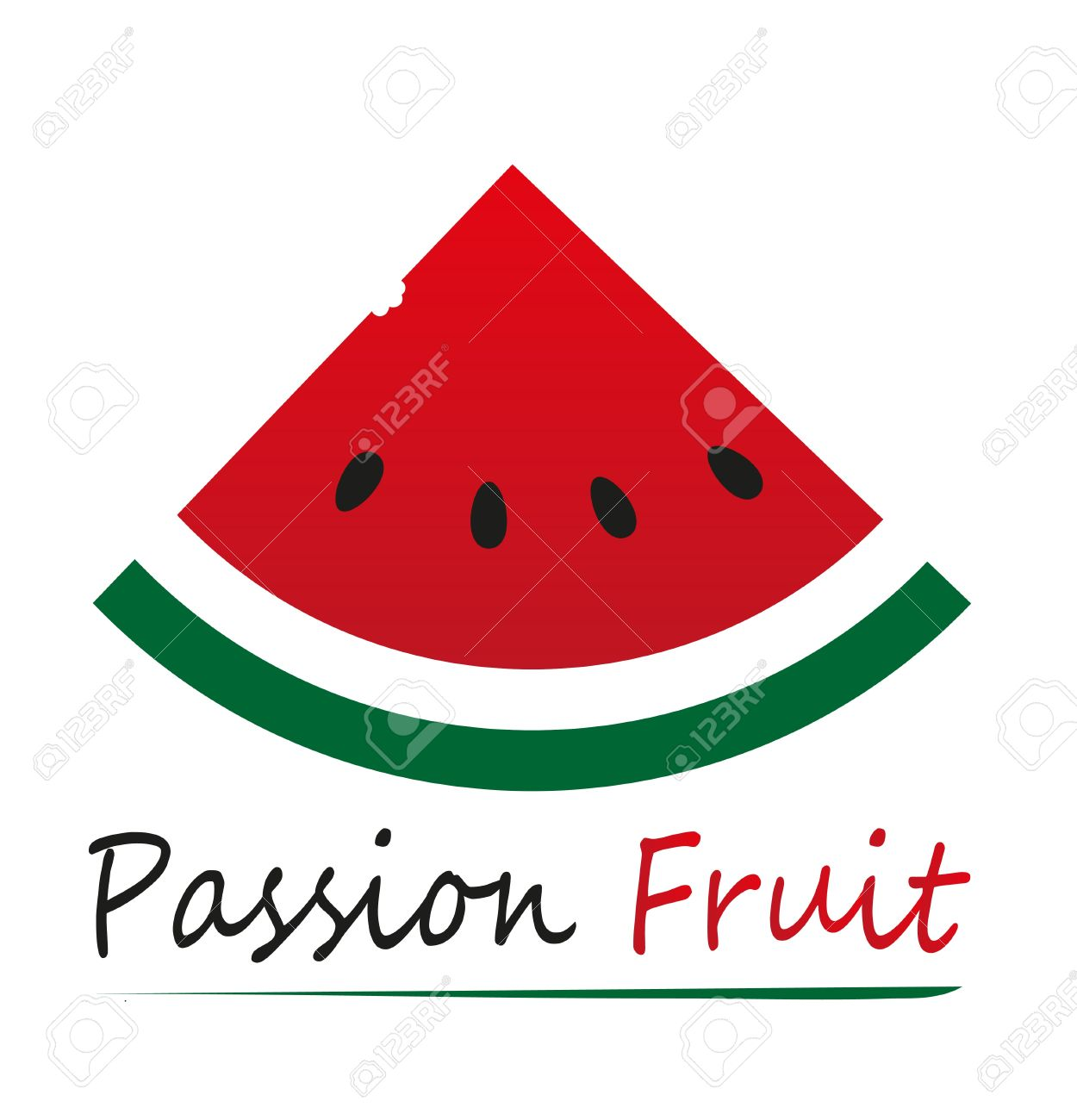 Vector Illustration Of Watermelon Slice Isolated Royalty Free.