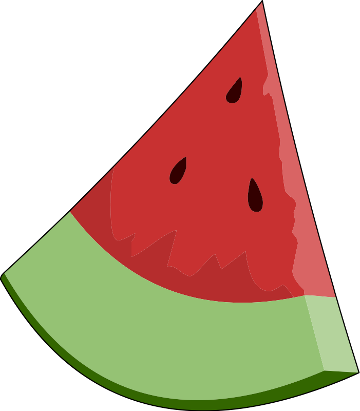 Watermelon Slice Clipart.