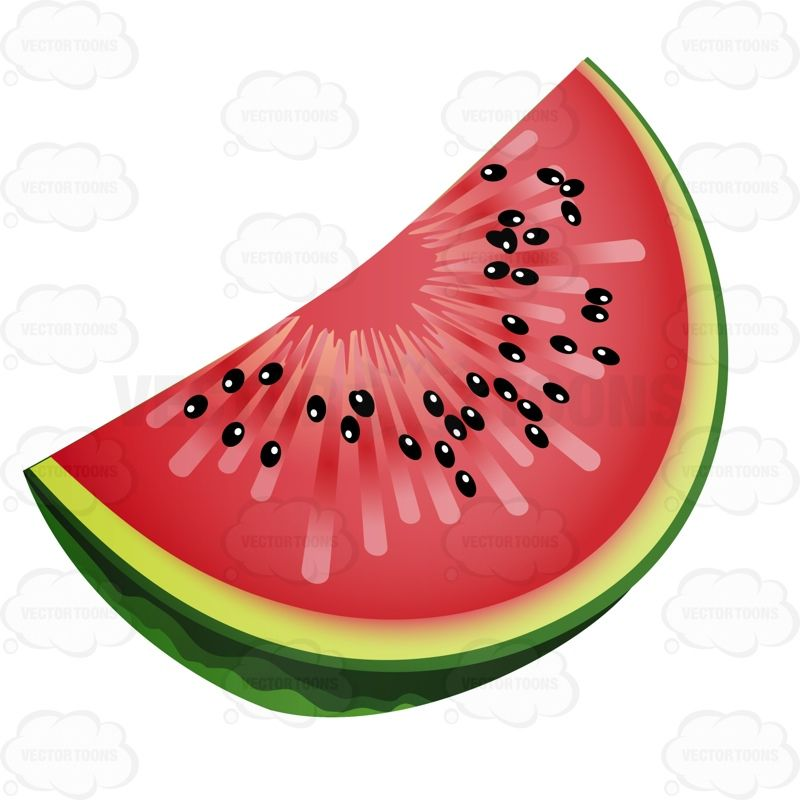 Slice Of Watermelon With Seeds #able.