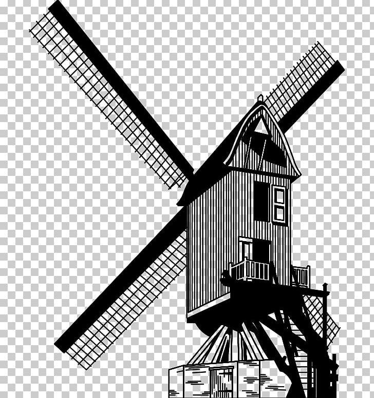 Windmill Watermill PNG, Clipart, Angle, Architecture, Black.