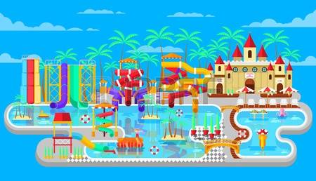 Lost island water park clipart.