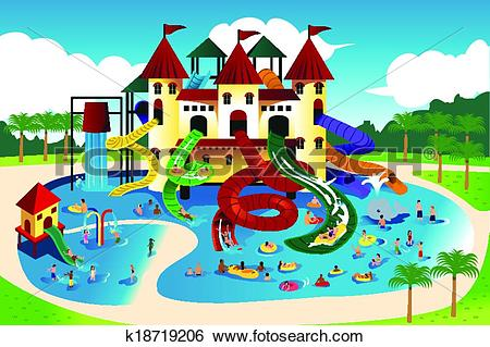Water park Clip Art and Illustration. 2,956 water park clipart.