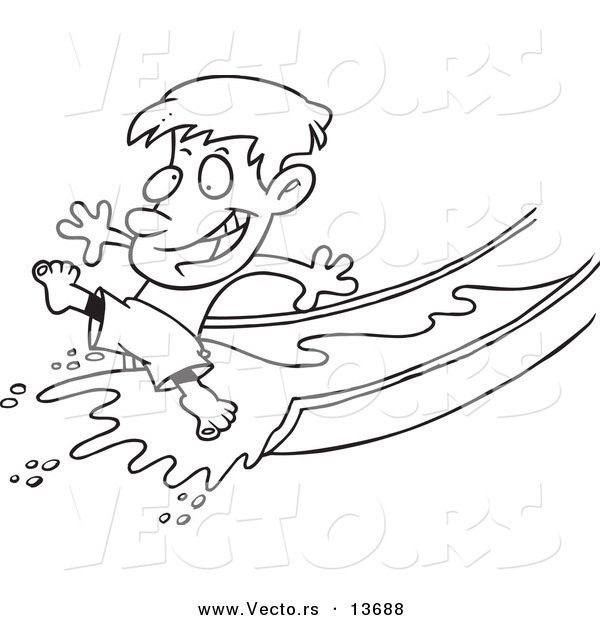 Water Slide Clipart Black And White.
