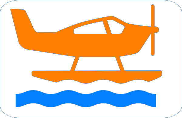 Orange Sea Plane Clip Art at Clker.com.