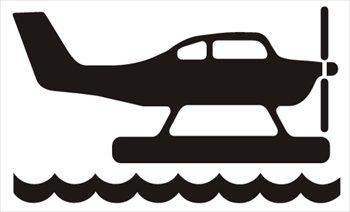 Free seaplane Clipart.