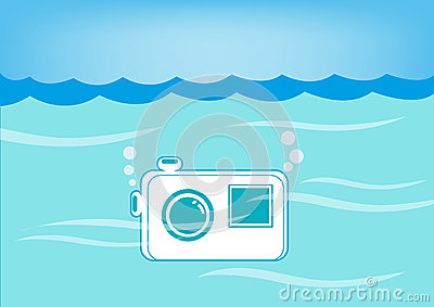 Waterproof Bag Beach Stock Illustrations.