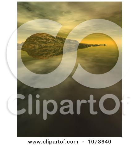 Clipart 3d Tranquil Scenic Waterscape Landscape 5.