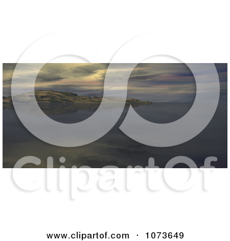 Clipart 3d Scenic Waterscape Landscape Panoramic 3.