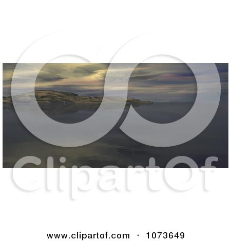 Clipart 3d Scenic Waterscape Landscape Panoramic 3.