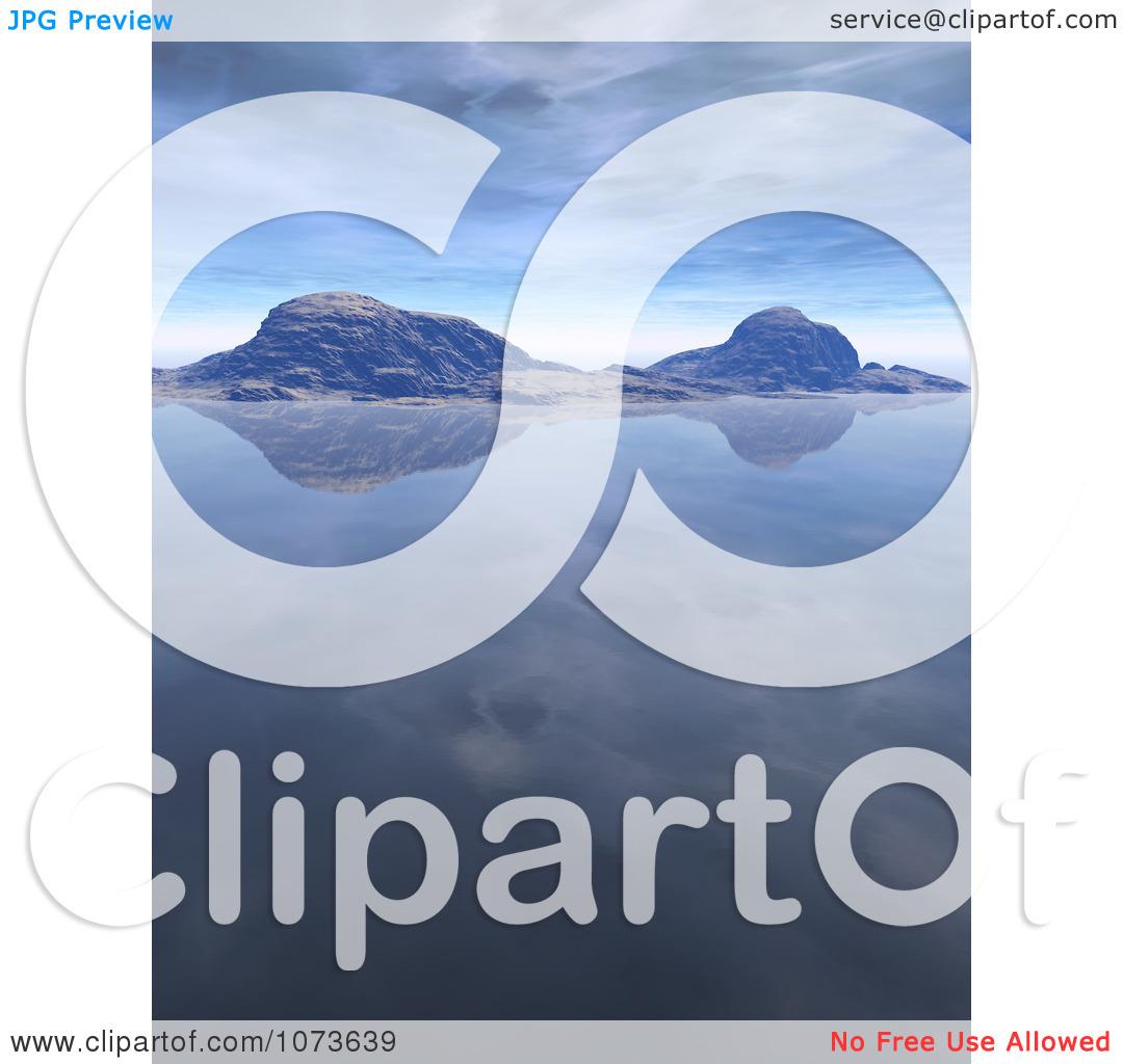 Clipart 3d Tranquil Scenic Waterscape Landscape 1.