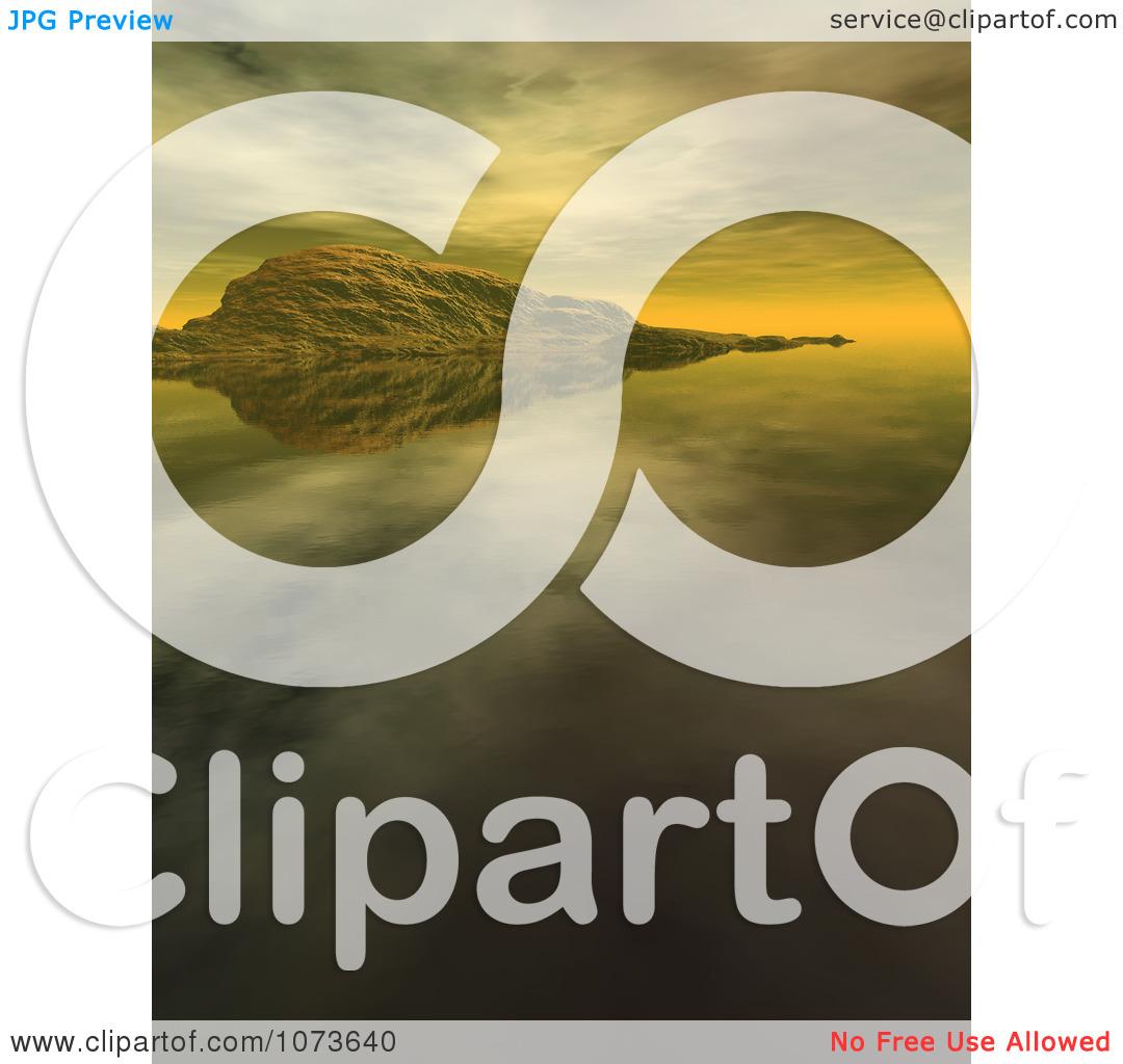 Clipart 3d Tranquil Scenic Waterscape Landscape 2.