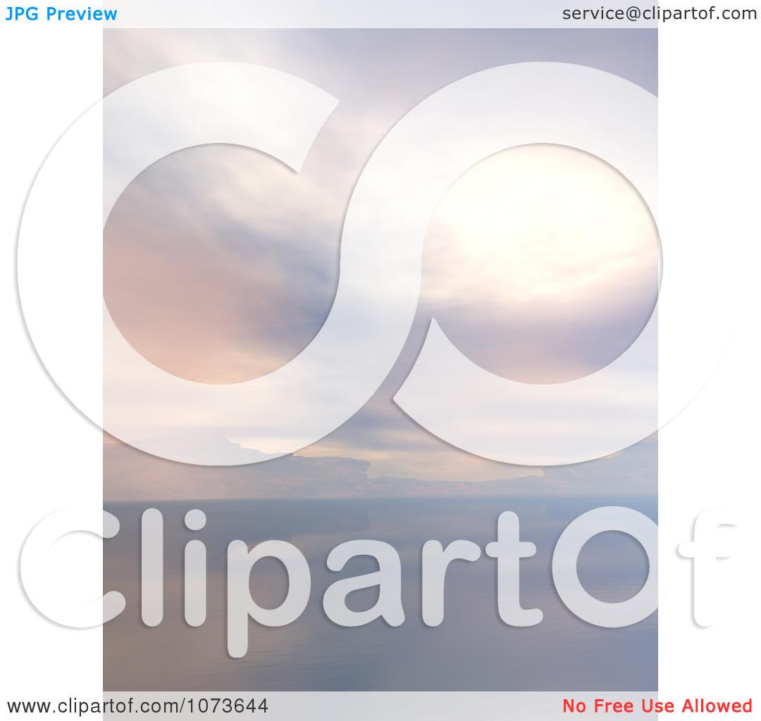 Clipart 3d Tranquil Scenic Waterscape Landscape 6.