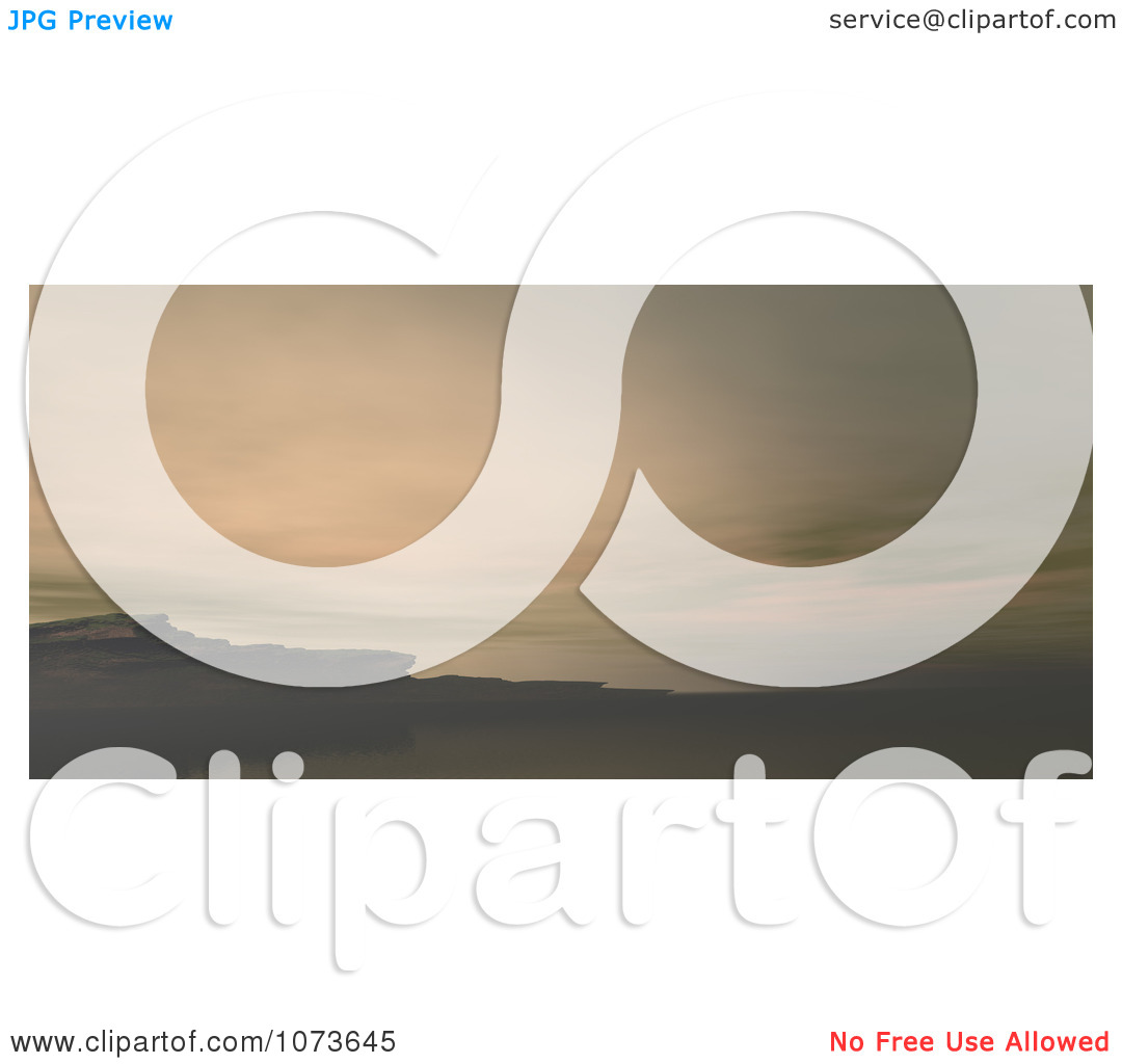Clipart 3d Scenic Waterscape Landscape Panoramic 5.