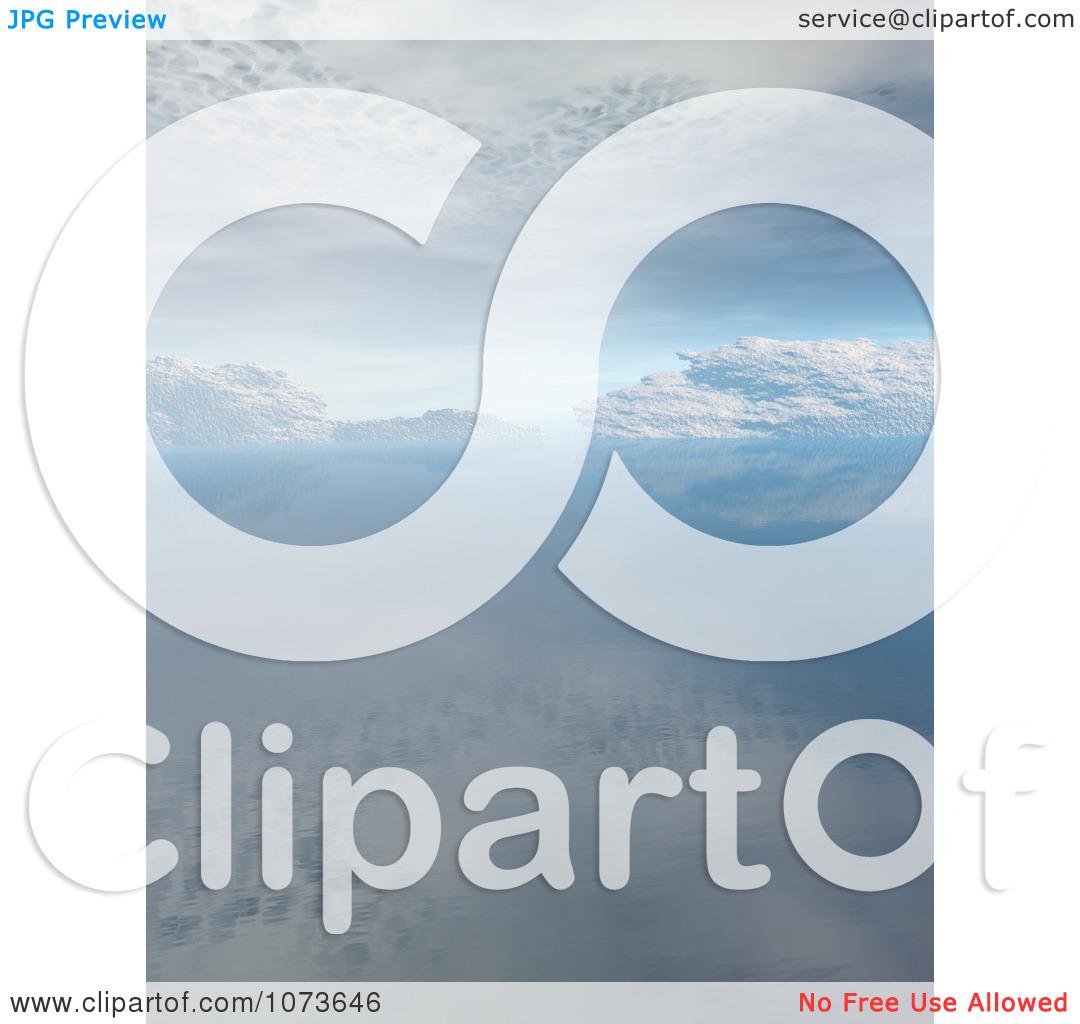 Clipart 3d Tranquil Scenic Waterscape Landscape 7.