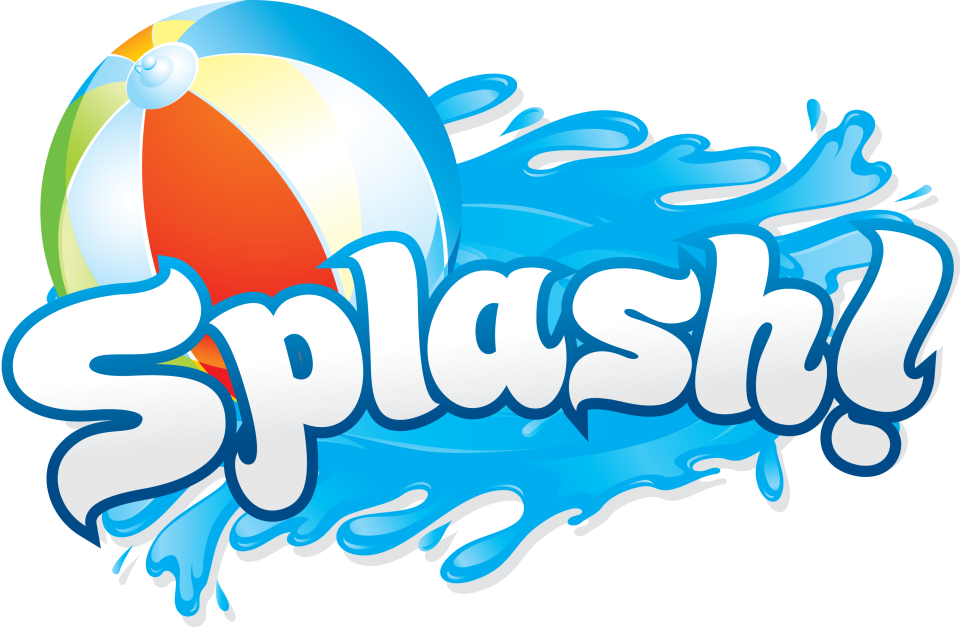 Splash water slide clipart.