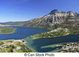 Stock Photographs of Waterton Lakes National Park.