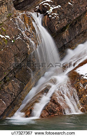Picture of Cameron Falls in the Waterton Townsite, Waterton Lakes.