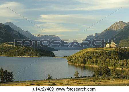 Stock Photograph of Waterton Lakes National Park, Alberta, Canada.