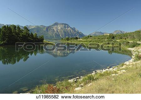 Stock Photo of Waterton Lakes National Park, Alberta, Canada.