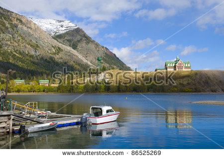 Prince Wales Hotel Waterton Lakes National Stock Photo 58330654.