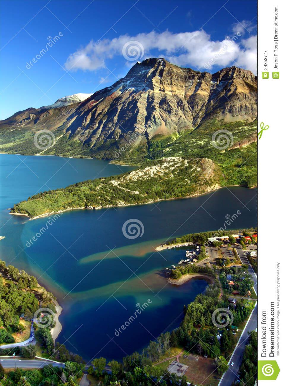 Waterton Lakes National Park Canada Royalty Free Stock Photography.