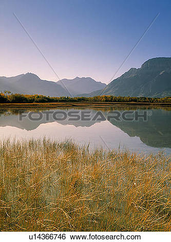Stock Images of Muskinonge Lake, Waterton Lakes National Park.