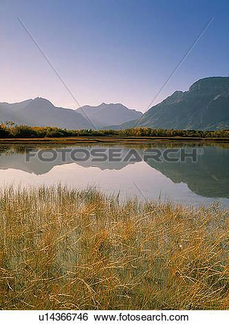 Stock Images of Muskinonge Lake, Waterton Lakes National Park.