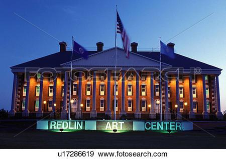 Stock Photograph of Watertown, SD, South Dakota, Redlin Art Center.