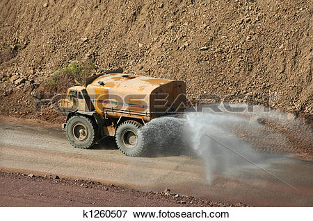 Picture of Water truck at a rock quarry k1260507.