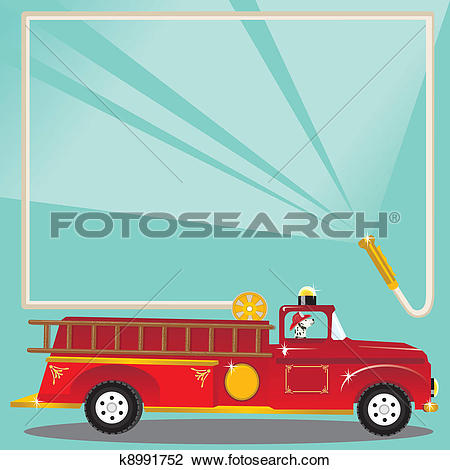 Fire fighter water truck Clip Art Vector Graphics. 92 fire fighter.