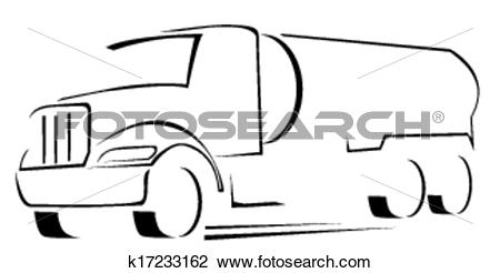 Clipart of vector Illustration of water truck k17233162.