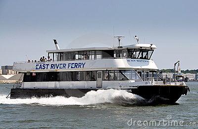 NYC: NY Waterway Ferry Boat Editorial Photo.
