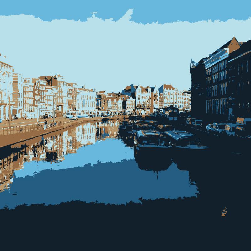 Free Clipart: Amsterdam waterway.