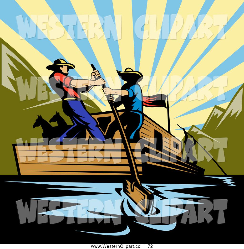 Royalty Free Stock Western Designs of Waterways.