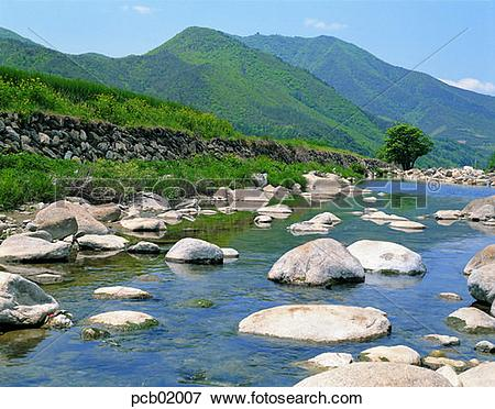 Picture of rivers, waterways, brook, rivulet, brook, little stream.