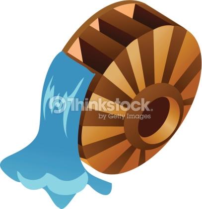 Water Wheel Clipart.
