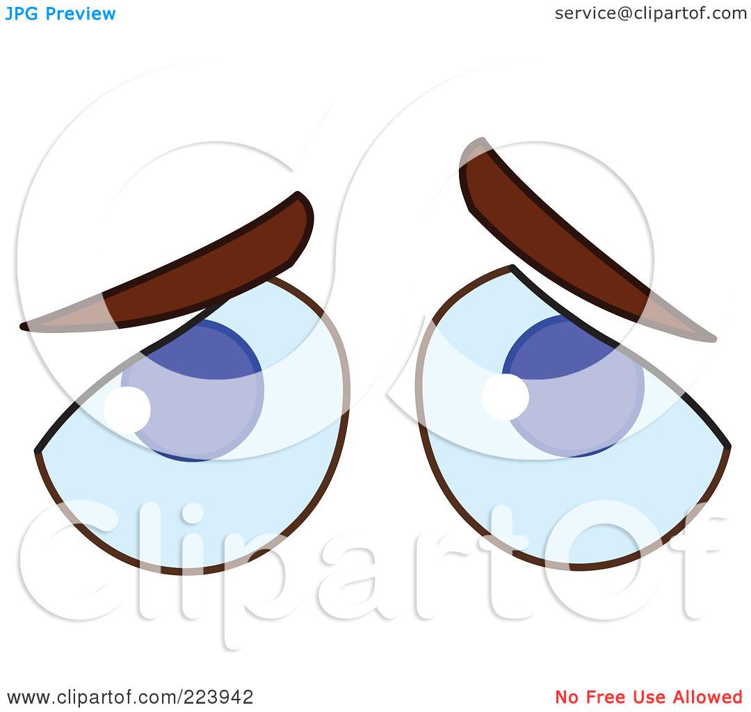 Watery Eyes Clip Art.