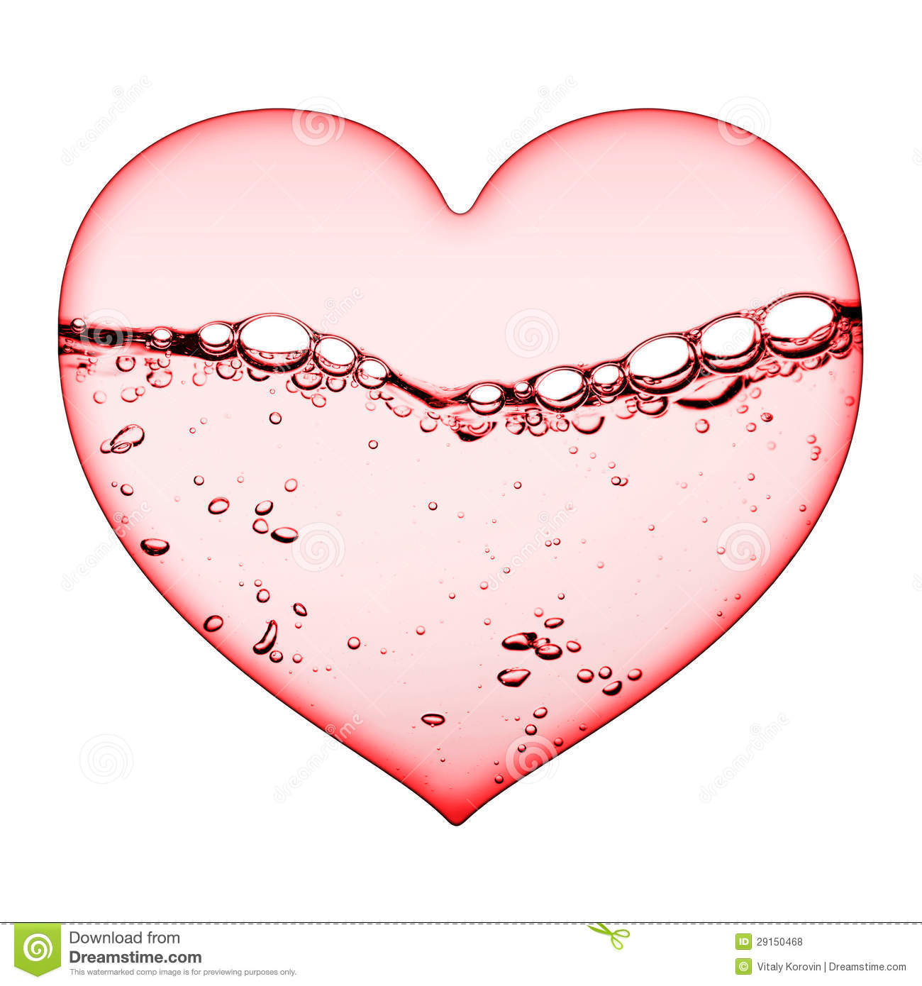Pink Watery Love Heart Royalty Free Stock Photos.