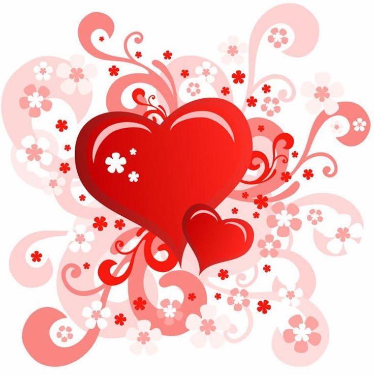 Watery heart clipart #3