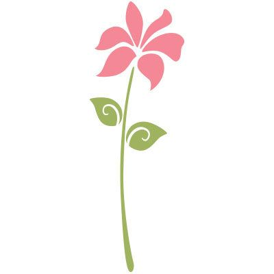 Flower Stencil for Painting Girls Room Wall Mural (SKU105.