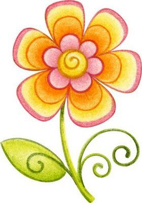 dibujos de flores de colores.